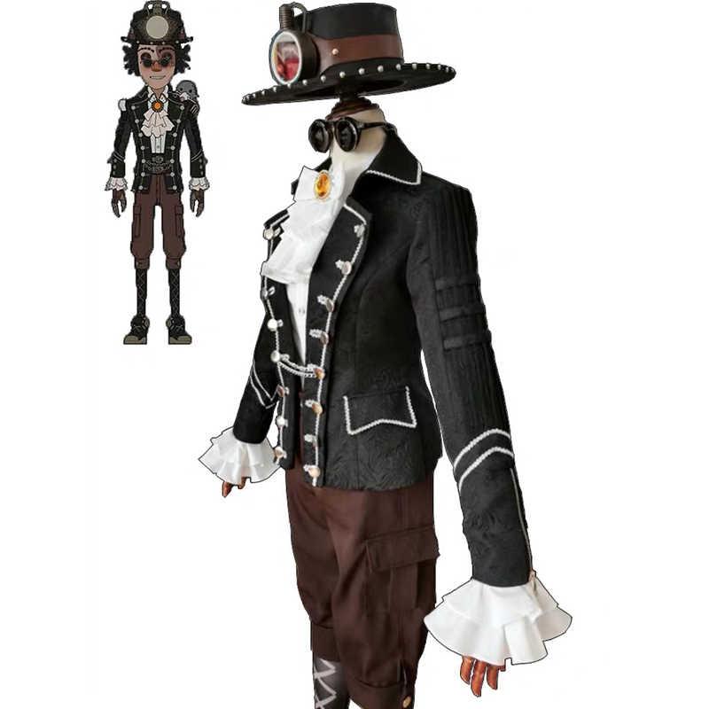 Oyun kimlik V Cosplay kostüm Prospector Norton Campbell Cosplay kostüm Mr. Köstebek cilt kostümleri üniforma takım elbise Anime Cosplay