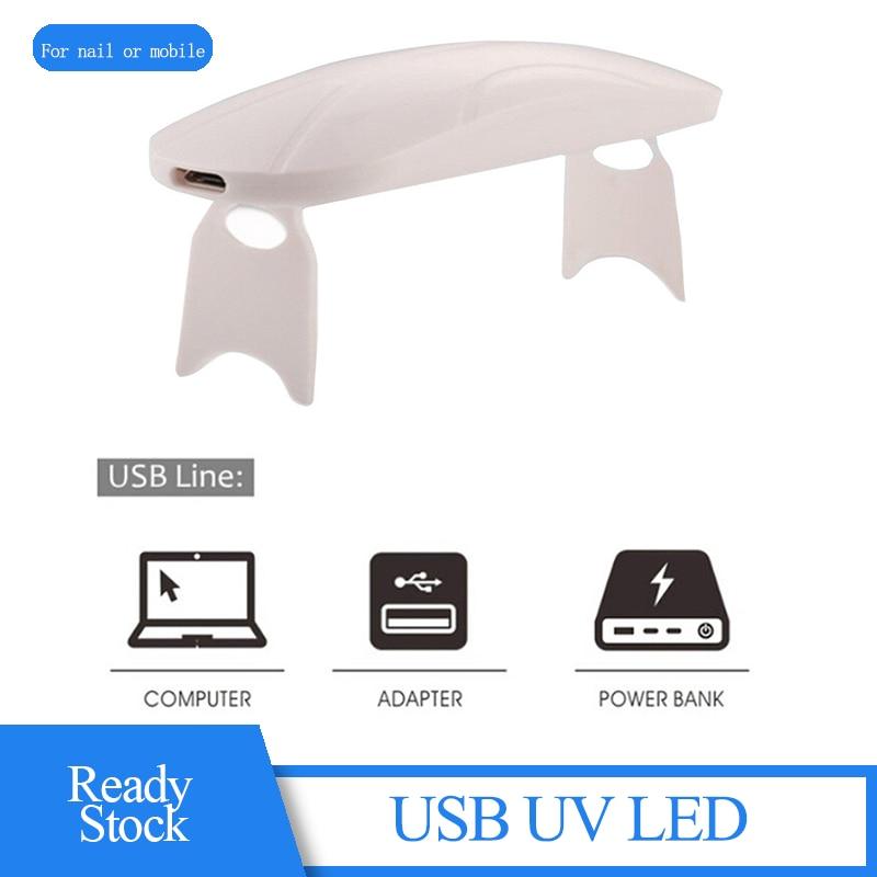 Uv Lamp Lights Uvc Light Lampe Nail Art USB Portable Pocket Nail Polishing UV Light For Nail Mobile Screen Protector