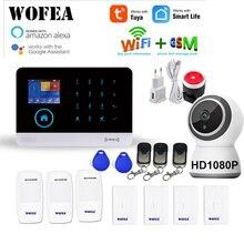 WOFEA sistema de alarma inalámbrico WIFI/GSM RFID, sistema de seguridad antirrobo con pantalla LCD táctil, compatible con Smart Life, Tuya, Alexa y Google Home