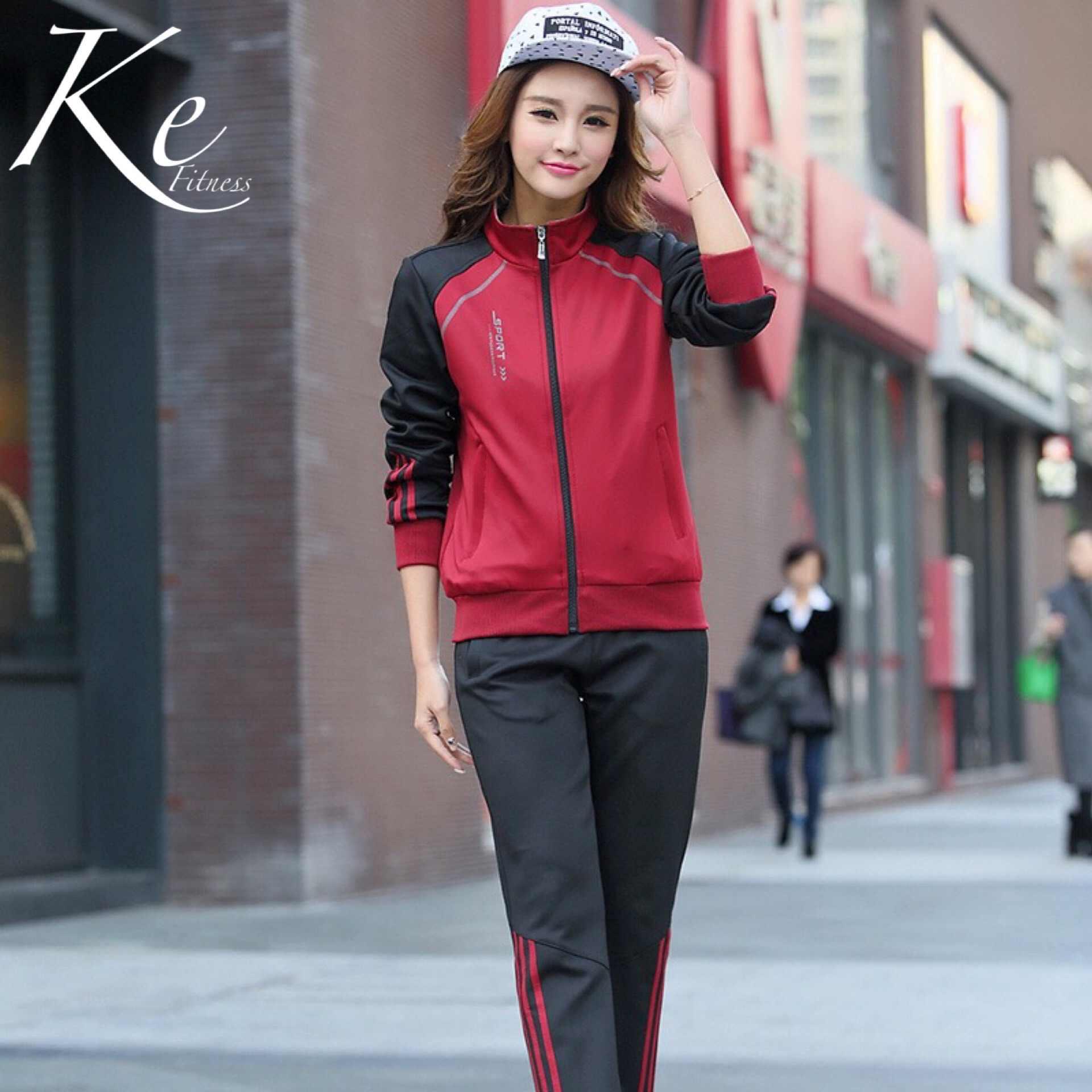 KE Sport set di grande formato più il maglione amanti coppie unisex tuta uomo donna uniforme abbigliamento casual studente uniformi