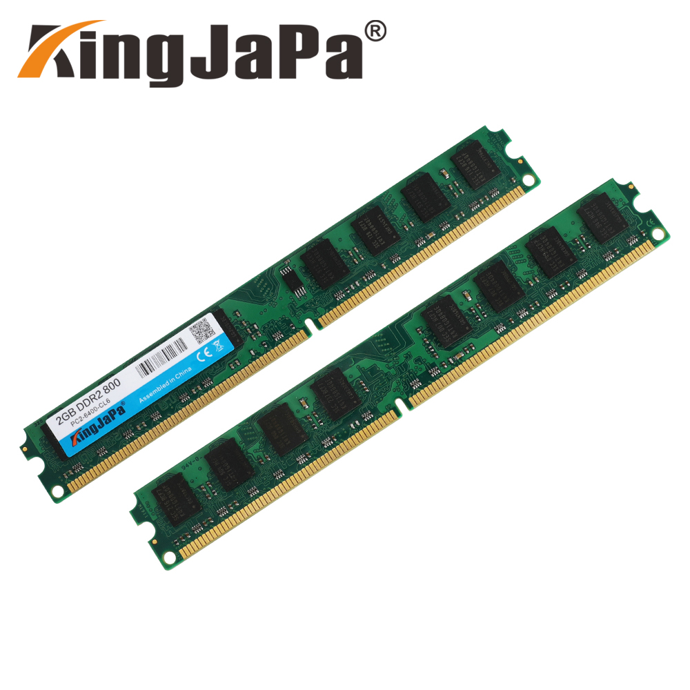 KingJaPa DDR2/DDR3 1GB/2GB/4GB/8GB/16GB 1600MHz/1333MHz/800MHz Desktop RAM 3
