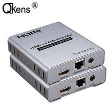 HDMI 2,0 4K 60HZ 60M HDMI удлинитель 1080P 120M по RJ45 Ethernet Lan CAT5e Cat6 кабель Каскадное подключение расширение ПК DVD к ТВ