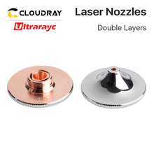 Ultrarayc Laser Nozzles Single Double Chrome-plated Layers D28 Caliber 0.8-4.0mm for Fiber Cutting Metal