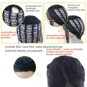 Image 5 - X TRESS Ombre ורוד טבעי גל סינטטי תחרה מול פאות עבור נשים שחור בלונד כתף אורך בוב תחרת פאה חום עמיד