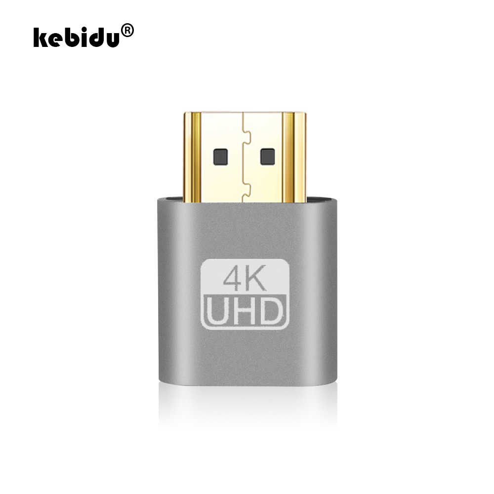 kebidu VGA Virtual Display Adapter Aluminum Alloy Headless For Ghost Display Emulator Lock DDC EDID Dummy HDMI Plug Wholesale
