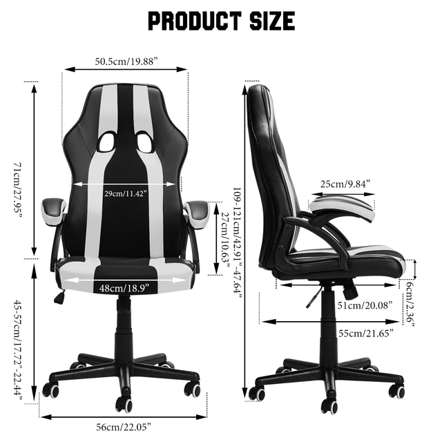 Gaming Office Chairs Executive Computer Chair Desk Chair Comfortable Seating Adjustable Swivel Racing Armchair Office Furniture 2