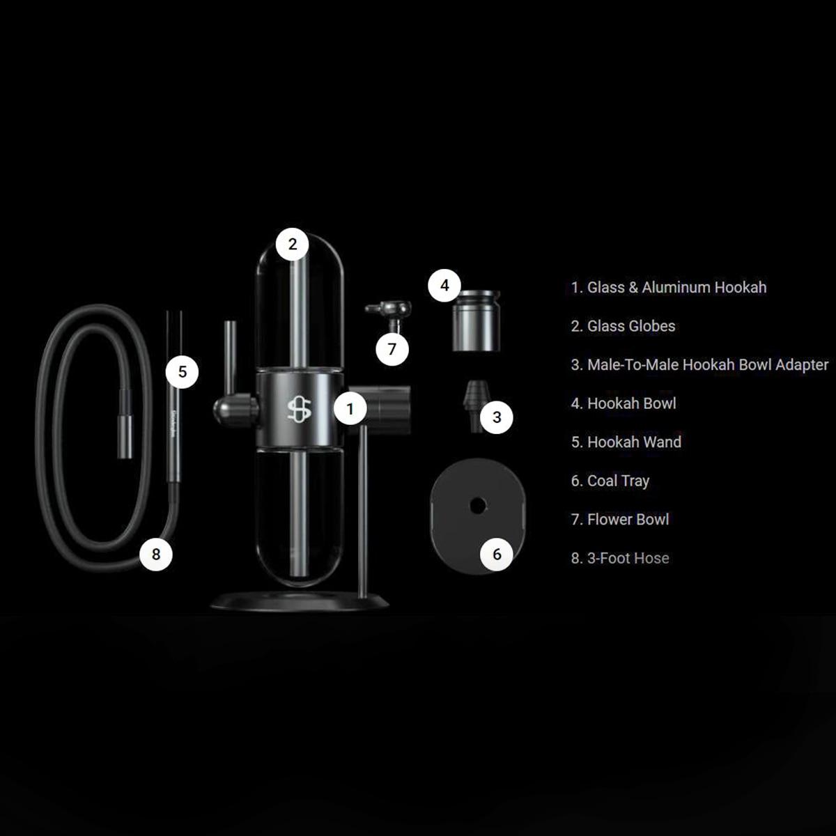 Premium Luxurious Gravity Pyrex Stundenglass Hookah Shisha Glass Bongs Weed Water Pipe 6