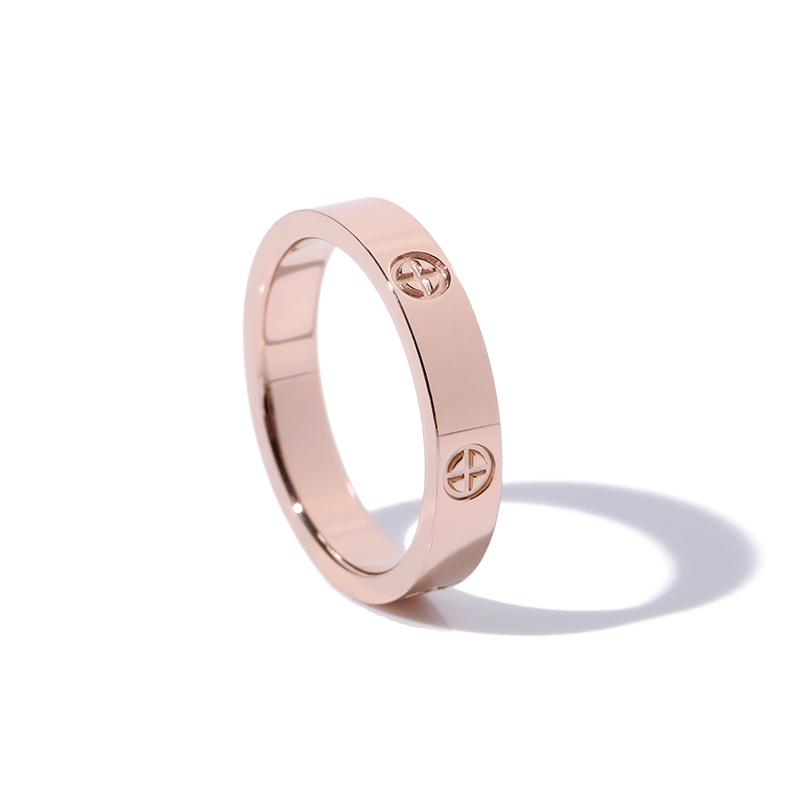 Classic Stainless Steel Screw Rose Gold Silver Color Rings Filled Love Wedding for Men Women Engagement Jewelry (GR228) 2