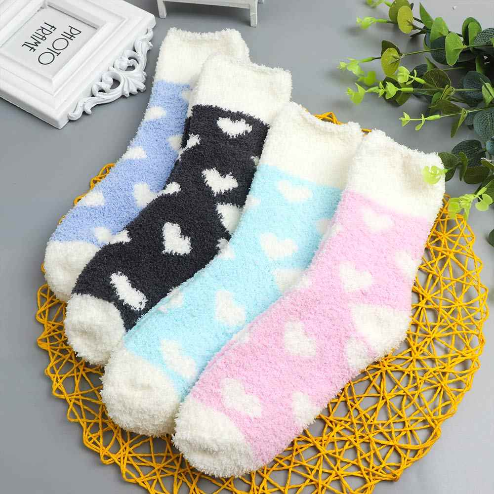 Women Winter Warm Socks Slippers Ladies Letter Print Party Casual Bed Funny Sock