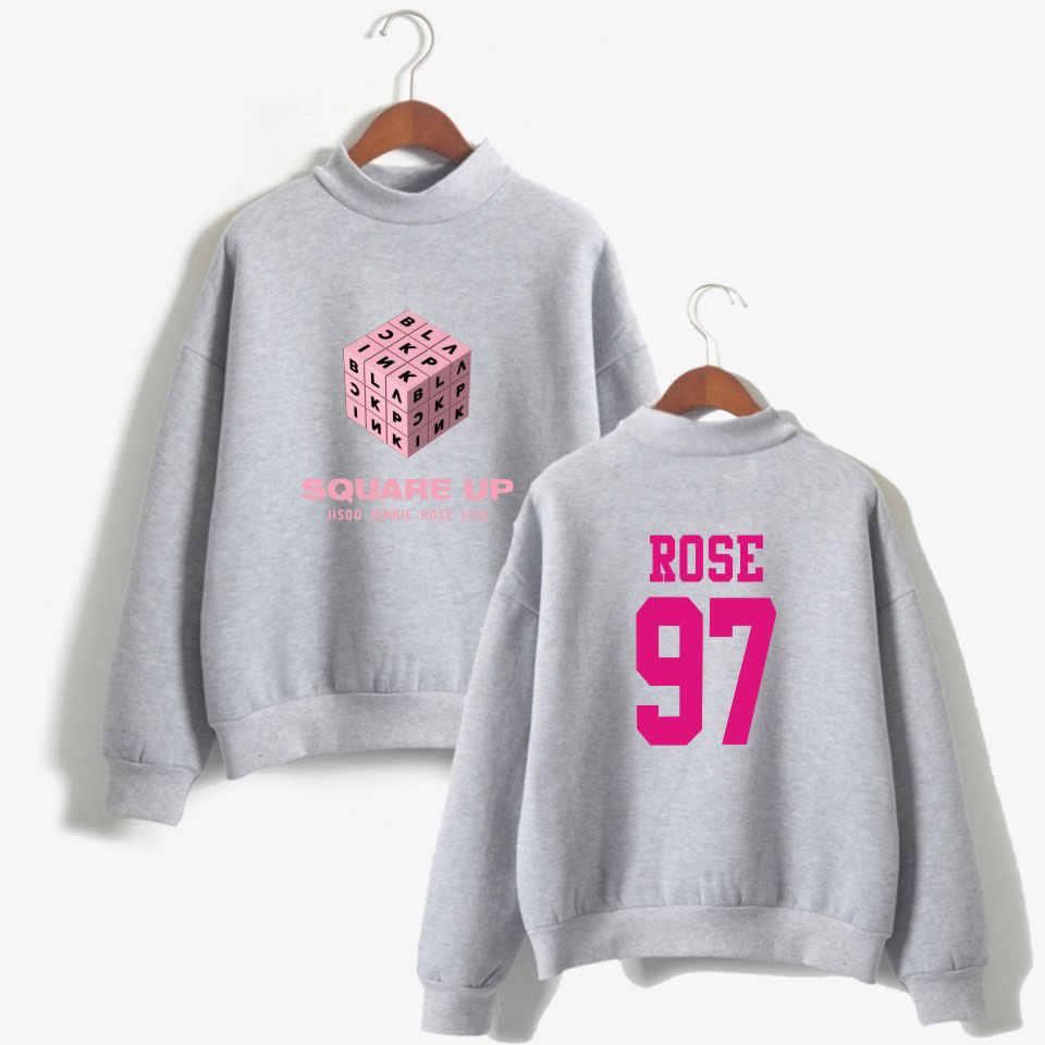 BLACKPINK SQUARE UP Rubik's Cube Women O-Neck Hoodies New Autumn Winter Couples Harajuku Hip Hop Kpop Tops Sweatshirt Oversized