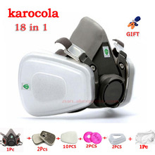 FILTERS Respiratory-Protection Spray Gas-Mask Safety-Goggles Paint Dust-Proof 6200 18-In-1