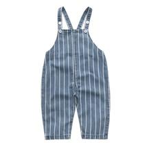 0-4T Newborn Children Kids Overalls Harem Pants Baby Boys Girls Blue Denim Overalls Infant Jumpsuits Baby Clothing Girls Overall