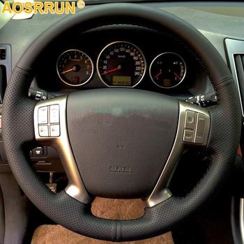 Cuero Artificial protector para volante de coche DIY para Hyundai IX55 Veracruz 2007, 2008, 2009, 2010, 2011, 2012