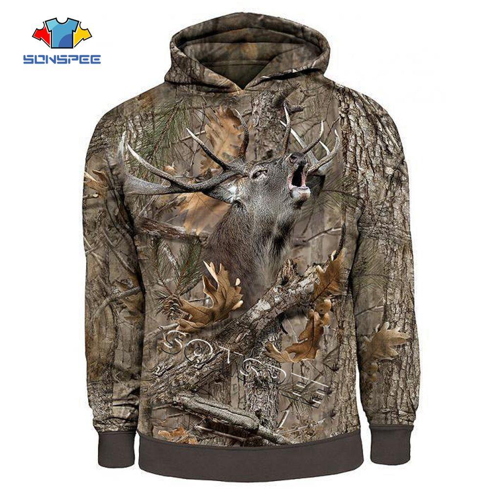 z-New Fashion Streetwear Hip hop Hooded Sweatshirt Long Sleeve Men Women Casual Pullover Camo HUNTING ANIMALS Elk 3D Hoodies Hoody (1)