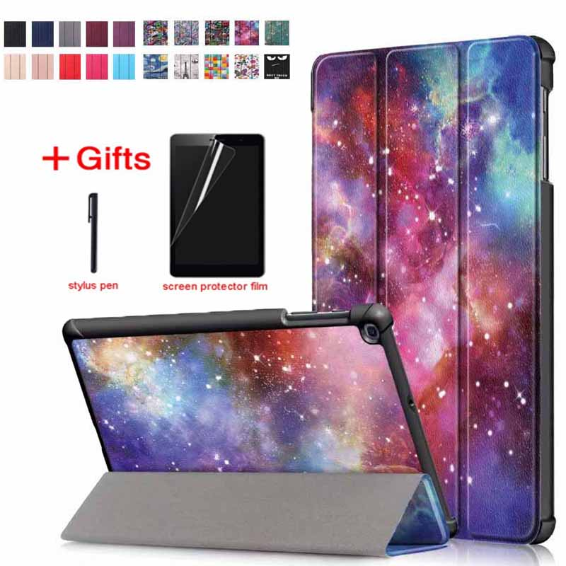 Ultra thin Flip Stand Leather Magnet Smart Case Funda Cover For Samsung Galaxy Tab A 10.1 2019 T510 T515 SM-T510 SM-T515 image
