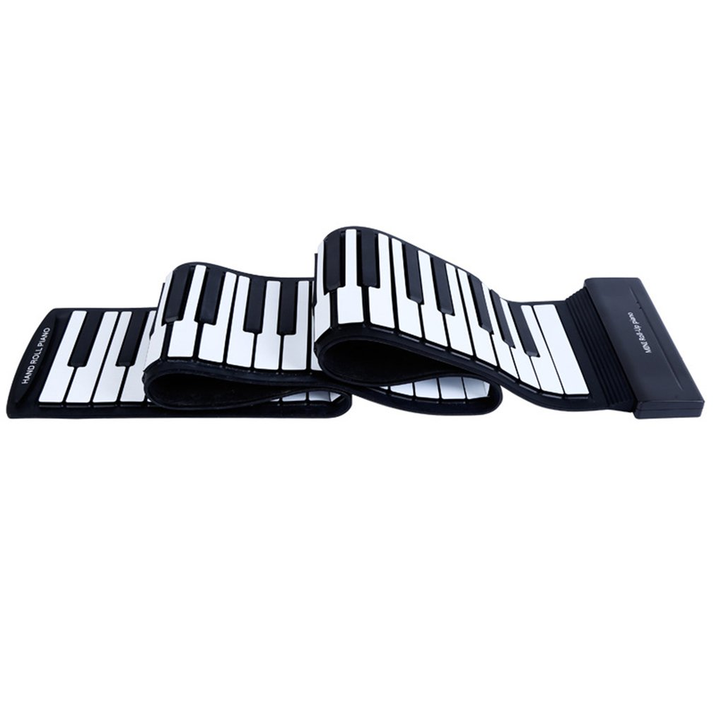 88 Keys For Hand Held Piano Thickening Professional Midi Soft Keyboard Folding Portable Electronic Organ With Pedal