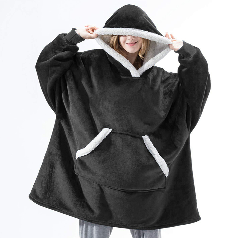 Winter-Hoodie-Women-Hooded-Blanket-Sweatshirt-Fleece-Plush-Hoodie-Warm-Coral-Fleece-TV-Blanket-with-Sleeve.