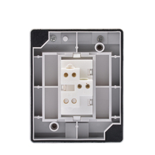 Socket surface type 86 one open wired Ding Dong doorbell switch button open line 220V electric bell outdoor