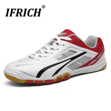 Breathable Badminton Shoes Couples Training Sport Shoes for Volleyball Tennis Professional Ping Pong Badminton Sneakers Jogging