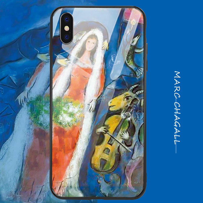 Iphone Xr Case | For Iphone Xr Case Ip Xsmax 6/7 / 8p 11 Case Surreal Fantasy Oil Painting Tempered Glass Mobile Phone Case Tpu Frosted Art Shell