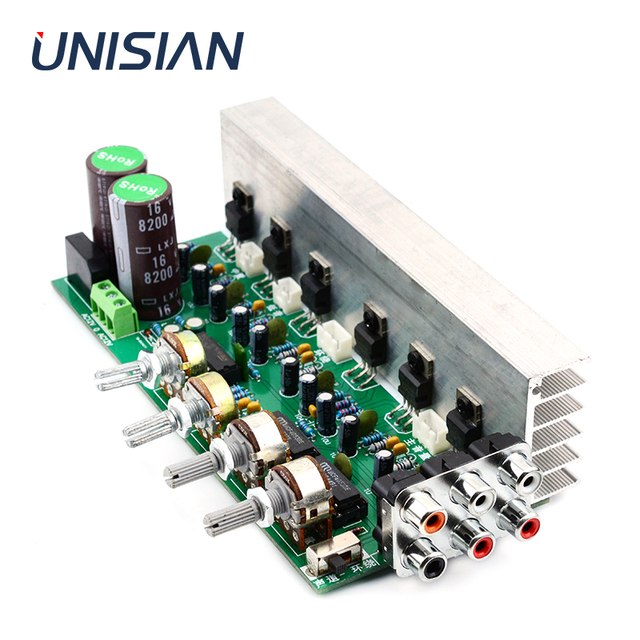 UNISIAN TDA2030 5.1 Channel  Audio Amplifier Board 6*18W 6 channels Surround Center Subwoofer Power Amplifiers For Home Theater