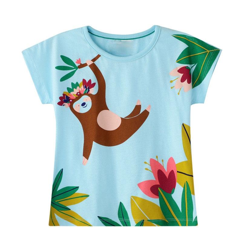2020 Girls T-shirt Mermaid T Shirt Summer Tops Princess Tshirt Camisetas Baby Girl T-shirts Koszulki Kids Clothes Tee Shirt New