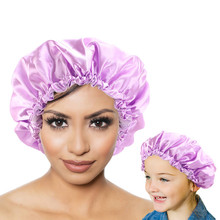 New Mum And Me Reversible double layer adjustable Sleep Night Cap Headwrap Head Cover Bonnet Hat for Curly Springy Waterproof