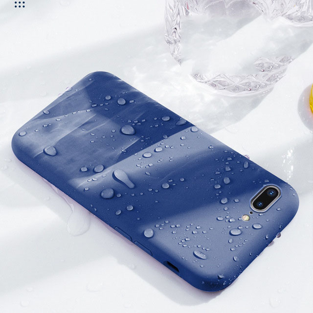 Luxury Liquid Silicone case For <font><b>iPhone</b></font> X Case 8 7 Plus XS Max XR 10 i Phone <font><b>7Plus</b></font> iphon 6S 6Plus <font><b>PhoneCase</b></font> Soft Skin-friendly image