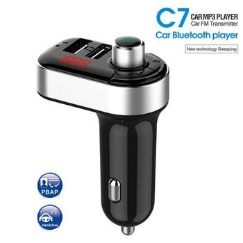 Автомобильное зарядное устройство с fm передатчиком, bluetooth приемник, аудио mp3 плеер, автомобильный комплект громкой связи, 4,1 А, двойное автомобильное usb устройство для зарядки телефона, зарядное устройство| |   | АлиЭкспресс