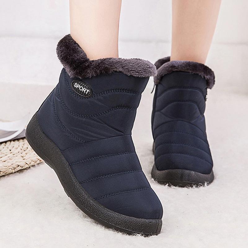Winter Snow Boots 2020 New Ankle Boots For Women Boots Shoes Waterproof Warm Plush Booties Female Winter Boots Plus Size 35-43