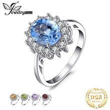 купить JewPalace Princess Diana Genuine Amethyst Ring 925 Sterling Silver Rings for Women Engagement Ring Silver 925 Gemstones Jewelry по цене 976.32 рублей