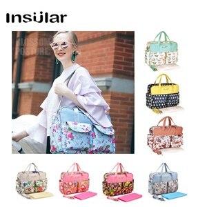 Image 2 - Bolsa de pañales para mamá de gran capacidad, bolsas de pañales de maternidad para mamá multifuncional, bolsa de enfermería para cochecito de bebé