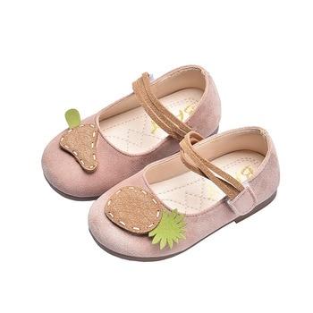 босоножки sweet shoes sweet shoes sw010awesyy8 Baby Girls Shoes Cute Fruit Pineapple Kids Shoes Flock Fabric Soft 2020 Autumn New Children's Shoes Single Shoes Kawaii Sweet