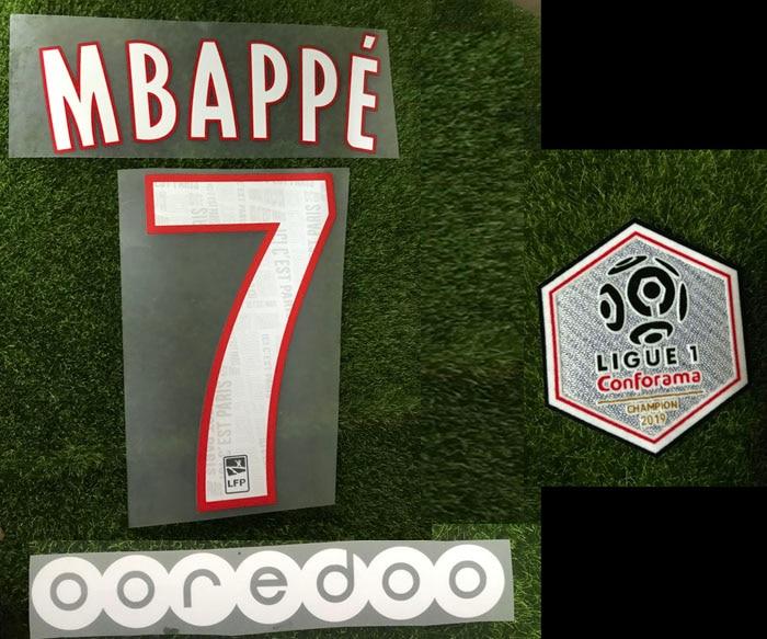 Flocage Mbappe 2018 France FFF Patch Badge Nameset