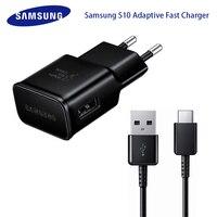 Caricabatterie rapido adattivo originale Samsung S10 adattatore rapido USB USB 1M tipo C cavo per Galaxy S8 S9 Plus nota 8 9 A3 A5 A7 2017
