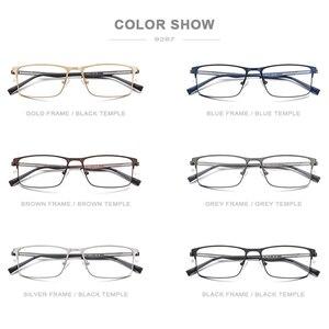 Image 4 - Оптические очки из FONEX сплава, 2019, квадратные очки для близорукости по рецепту, оправа для мужчин, мужские металлические полностью корейские очки, очки 9287