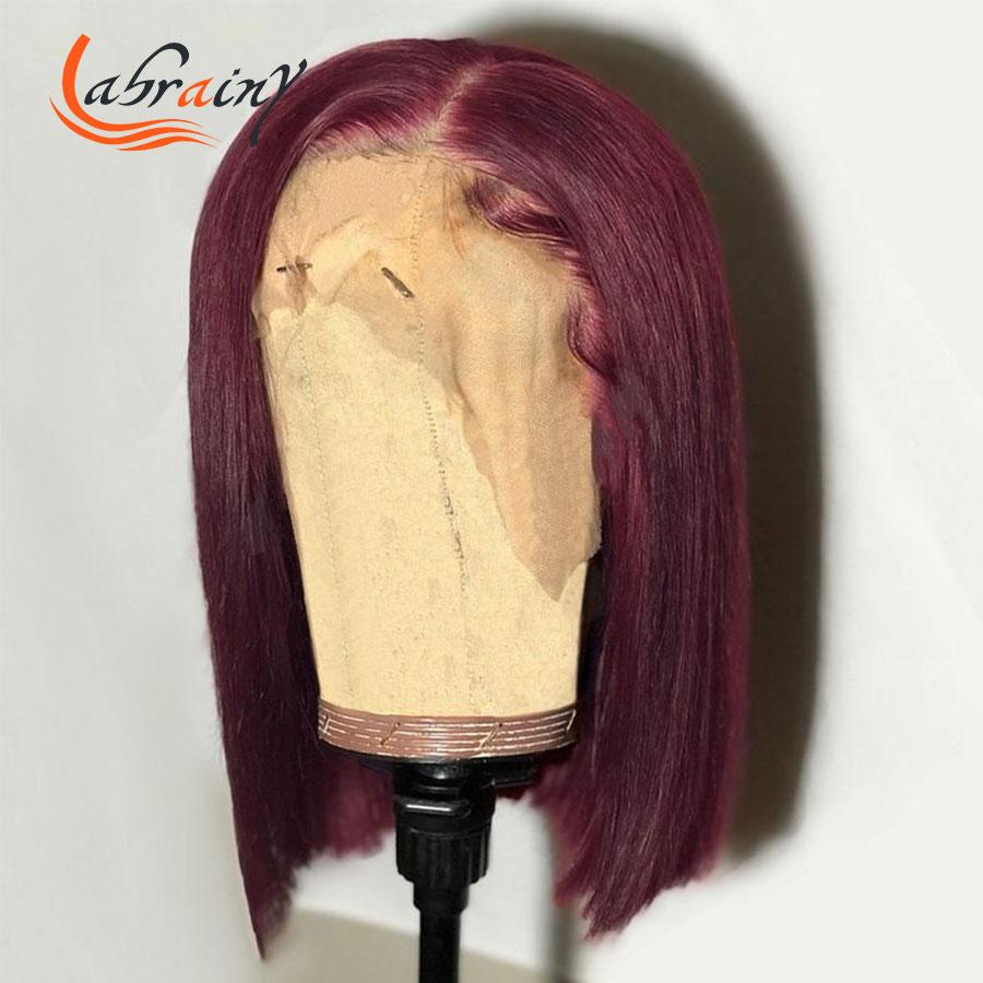 completo corte curto hd transparente laço frontal peruca brasileira 13x4