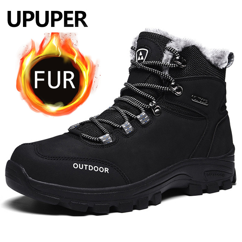 UPUPER New Boots Men Hiking Shoes Breathable Tactical Combat Army Boots Outdoor Climbing Shoes Warm Winter Sneakers Men Boots