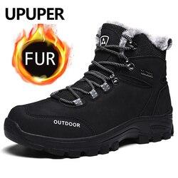 Upuper novas botas dos homens sapatos de caminhada respirável combate tático botas do exército ao ar livre sapatos de escalada inverno quente tênis botas