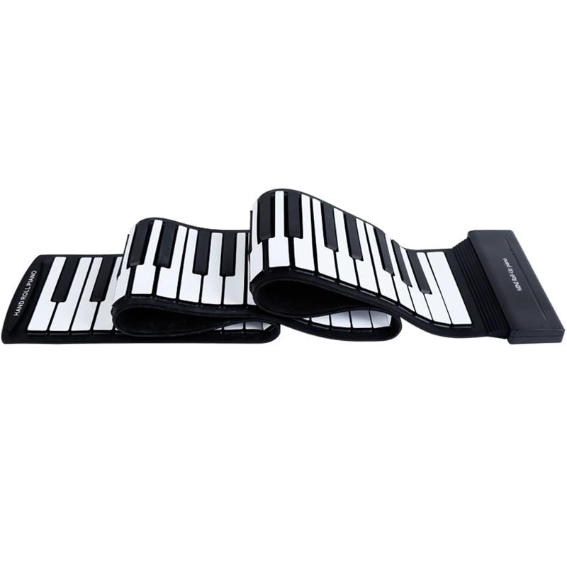 Rolo de Piano Teclas Rolam Acima Piano Atualizado Portátil Recarregável Eletrônico Mão 88 Mod. 312697