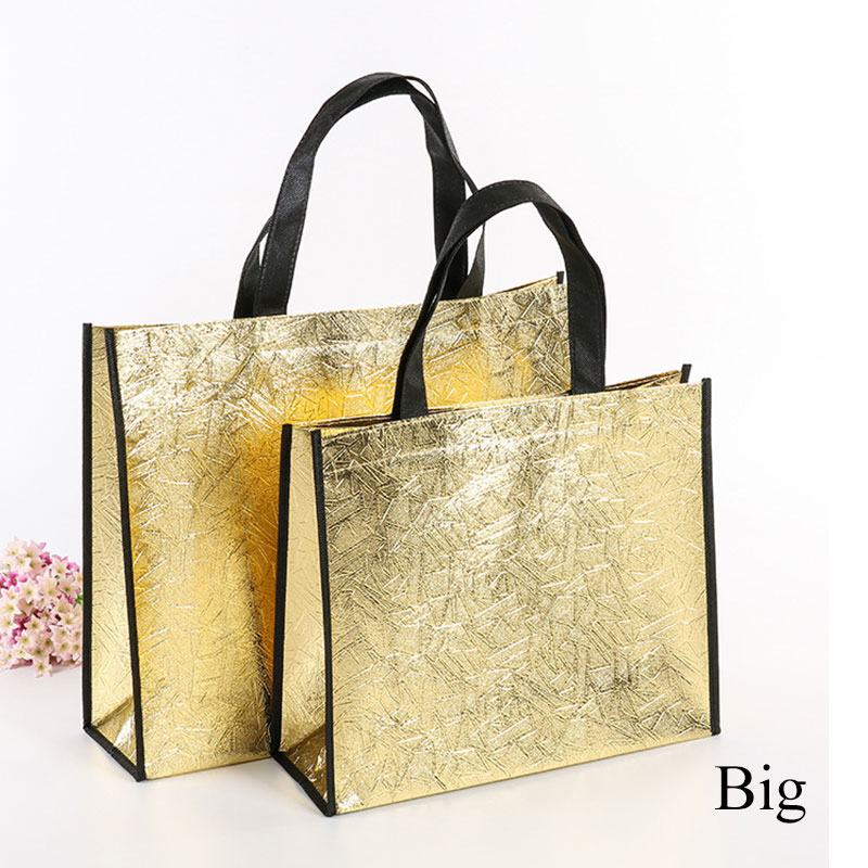 Fashion Laser Shopping Bag Foldable Eco Bag Large Reusable Shopping Bag Tote Waterproof Fabric Non-woven Bag No Zipper Hot Sale