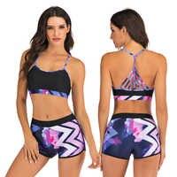 Badeanzug 2020 Bademode Frauen Bikini set Sport Bademode Shorts 2 Stück Schwimmen anzug Frauen badeanzug Floral Bademode Weibliche