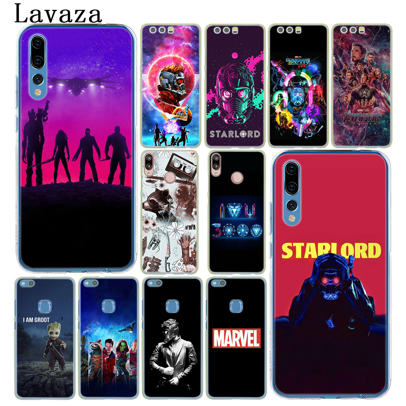 Guardians of the for Galaxy <font><b>Marvel</b></font> Phone <font><b>Case</b></font> for <font><b>Huawei</b></font> Y9 <font><b>Y7</b></font> Y6 Prime 2018 <font><b>2019</b></font> Honor 20 10 8 8C 8X 9X 9 Lite 7C 7X 7A Pro image
