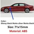 2 шт. новый автомобильный матовый серебристый глянцевый хромированный Черный ABS S line Sline для Audi A4 S4 RS4 A6 TT A3 эмблема наклейка