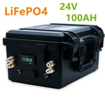 Lifepo4 24V 100ah battery pack lifepo4 24V 100AH lithium ion battery pack built-in BMS for inverter,solar system,boat marine mot