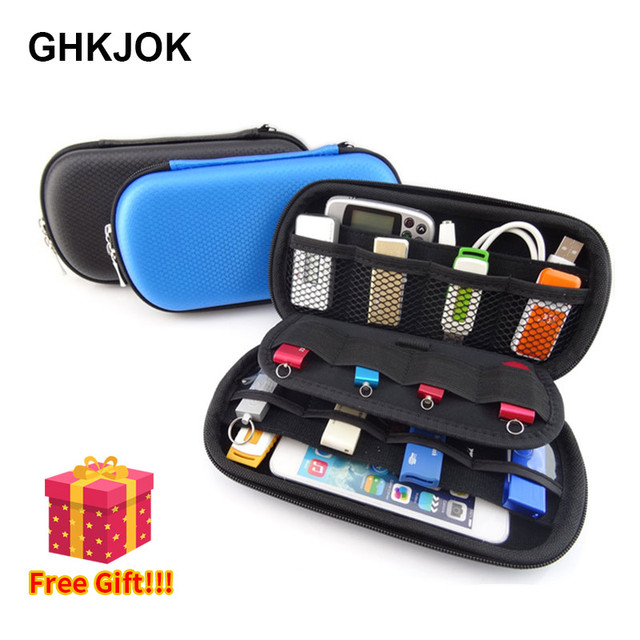 Big Capacity Electronic Accessories Organizer Bag Case for USB Data Cable Flash Drive SD Card Phone Digital Product HDD Box Case