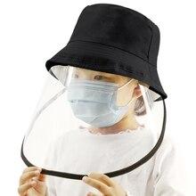 Kids Fisherman Hat Removable Face Shield Cover Anti-Saliva Splash Anti-Spitting Anti-Fog Anti-Oil Protective Cap