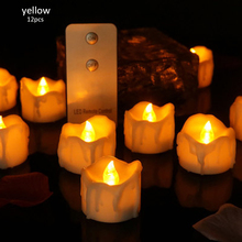 12pcs/24pcs LED Lights Candle Light Flameless Candles Flickering Battery Operated Lights Wedding Christmas Thanksgiving Festival