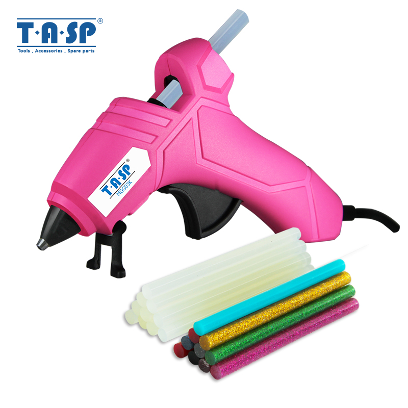 TASP 230V 12(70)W High Temp Heater DIY Mini Hot Glue Gun Silicone Melt Repair Tools With 7mm Glue Sticks For Diyer CE Approved