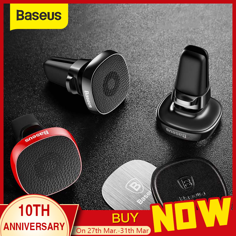 Baseus Metal Car Phone Holder For IPhone 11 Pro Sumsung S9 Xiaomi Magnetic Phone Holder Air Vent Mount Mobile Phone Holder Stand